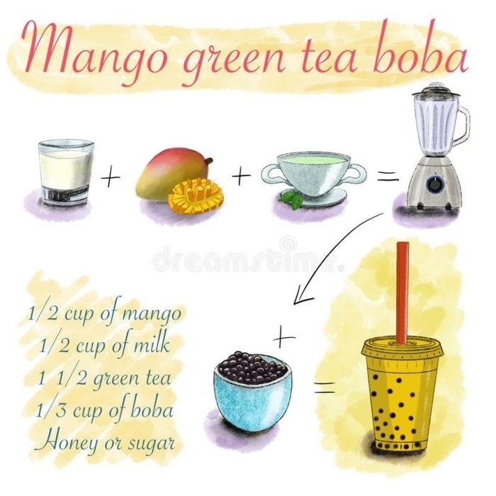 boba tea selber machen schritt für schritt, wie macht man bubble tea, rezept mit mango
