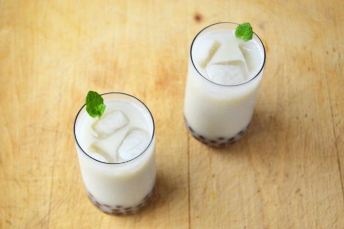 bubble tea sorten, milchgetränke mit pfefferminze, kalte sommergetränke für heiße tage