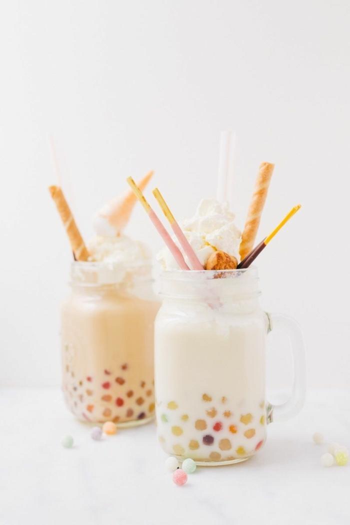 bubble tea sorten, leckeres sommergetränk, eistee mit tapioca perlen, kaltgetränk