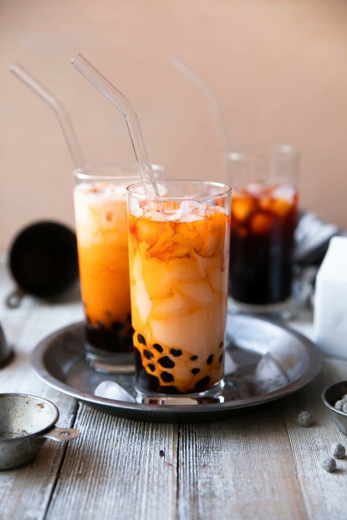 bubble tea tapioca perlen selber machen, boba tea zubereiten schritt für schritt