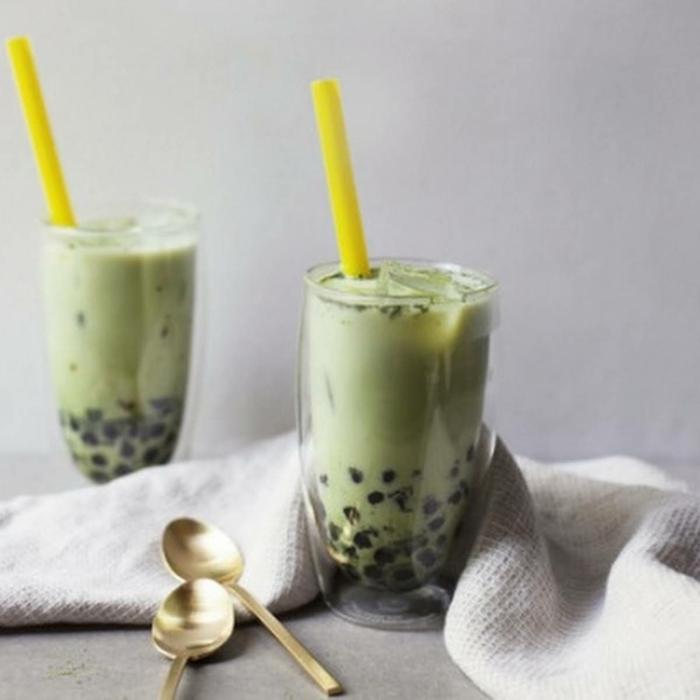 einfache sommerrezpte, bubble tea tapioca perlen selber machen, boba tea mit pfefferminze