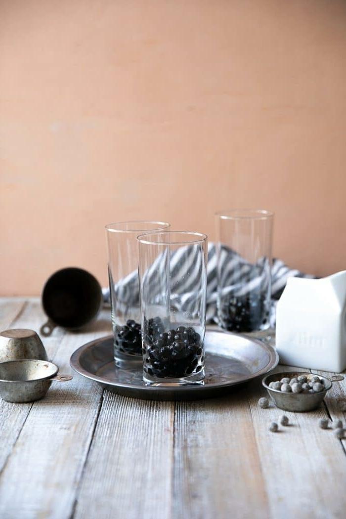 bubbles für bubble tea selber machen, kalter tee, sommertee mit tapioca perlen