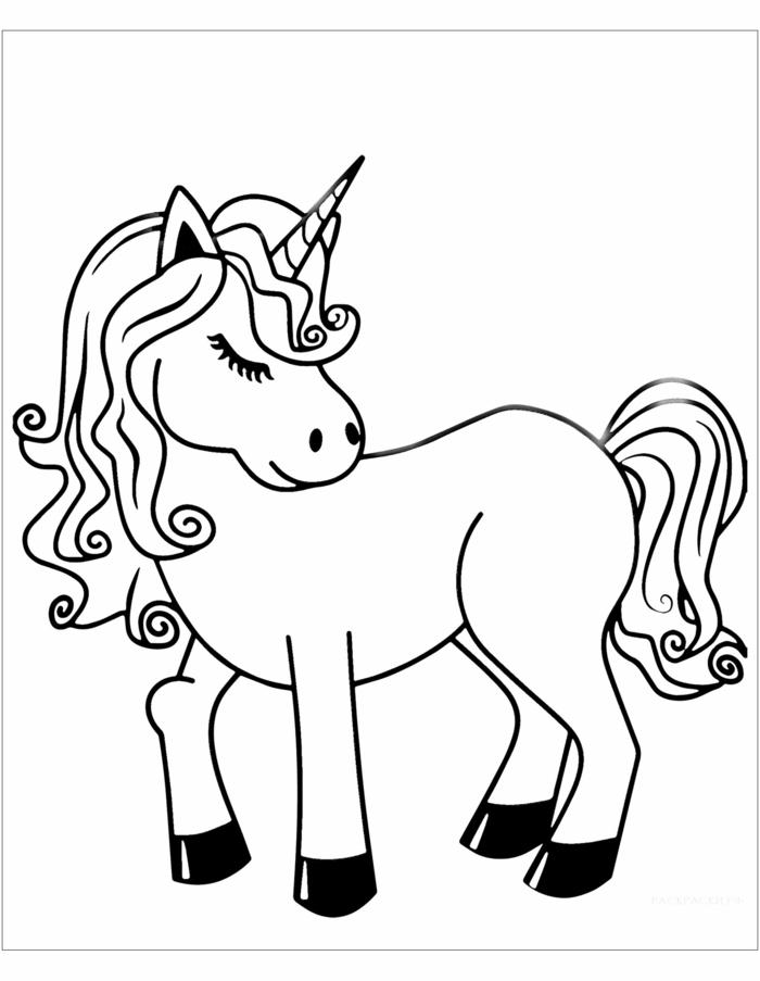 einhorn zum ausmalen, ausmalbilder für kinder, schwarz graue zeichnung