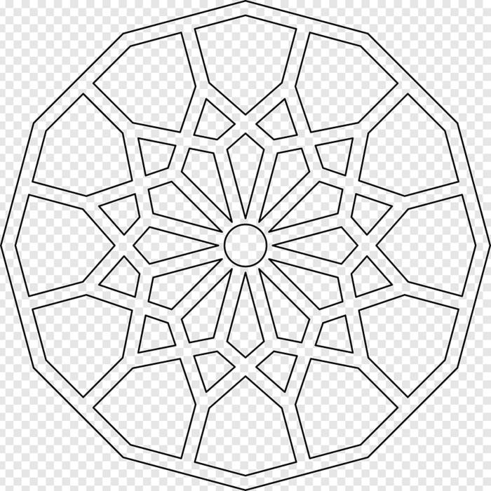 Kreative Mandalas zum ausdrucken, Muster in Kreisform mit verschiedenen geometrischen Figuren