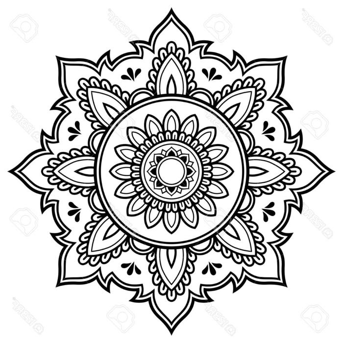 Bilder zum Ausdrucken kostenlos mit Mandala Muster, Blumen Figuren und geometrische Formen
