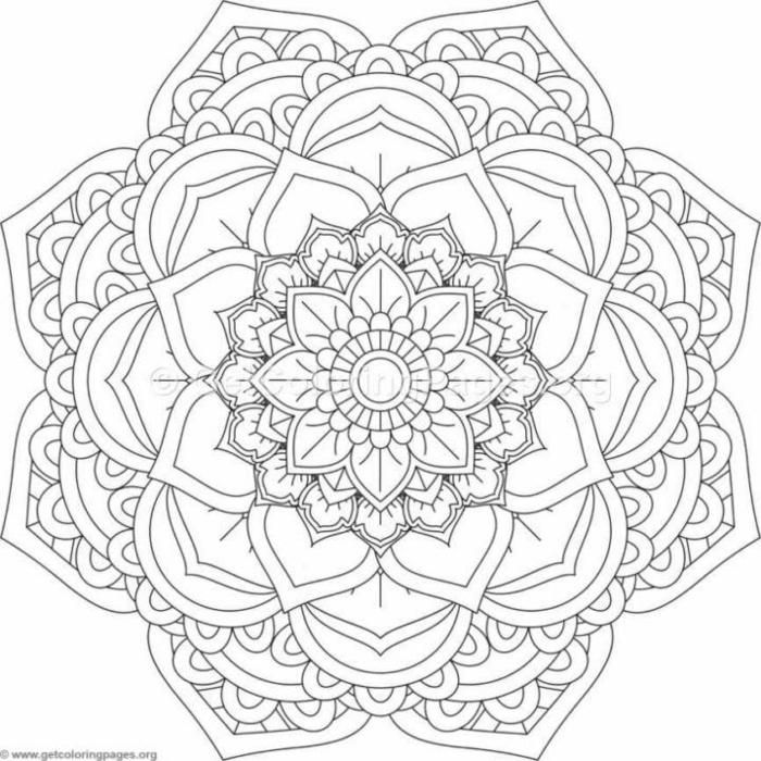 Mandalas für Kinder mit verschiedenen Muster und Blumen, Ausmalbilder zum ausdrucken