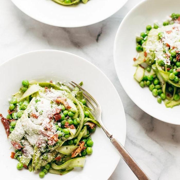 rezepte zum abnehmen abendsm, gesundes abendessen, salat aus grpnen bohnen