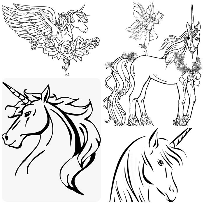 unicorn bilder für kinder, die besten malbilder mit einhorn als motiv