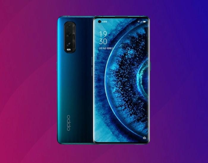 ein blaues smartphone mit vier kameralinsen auf der rückseite, das neue oppo find x2 neon kommt auf dem deutschen markt