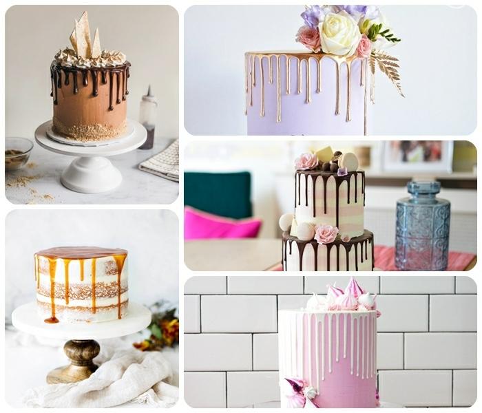 drip cake selber machen, die besten rezepte, geburtstagskuchen ideen, tortendeko