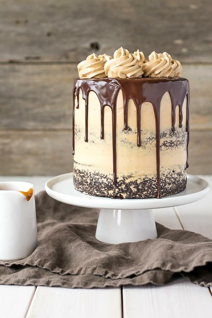 geburtstagstorte für männer, schokoladenkuchen zum geburtstag, geburtstagskuchen ideen