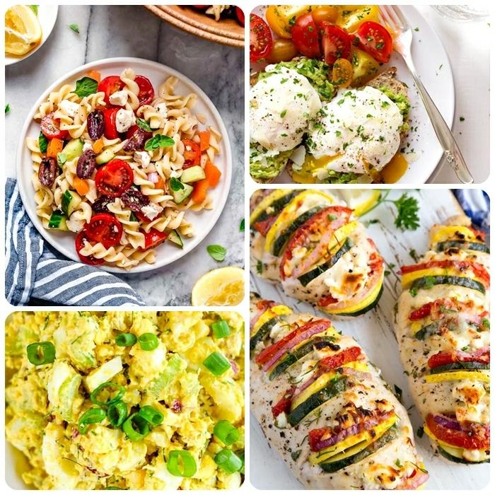4 rezepte für schwangere gfüllte hänchenbrust eier mit frühlingszwiebel pasta mit tomaten und bohnen