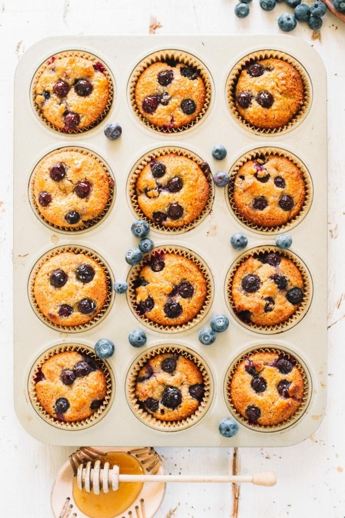 5 schwanger essen leckerer nachtisch gesunde muffins mit blaubeeren und mandelmelh
