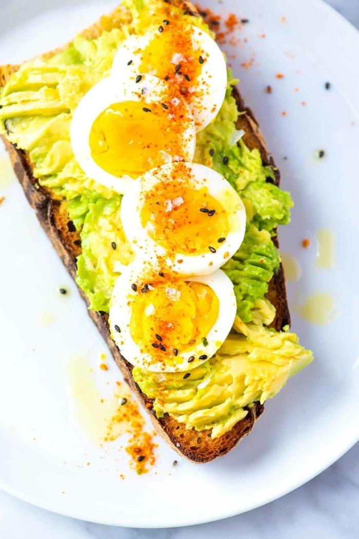 5 schwangerschaft ernährung gesundes frühstück sandwiches mit eier und avocado