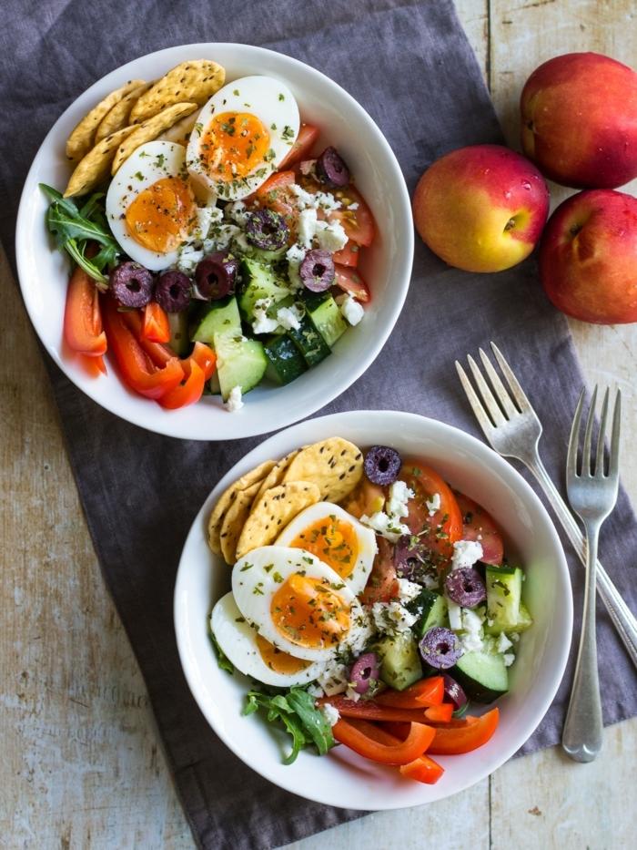 5 schwangerschaft ernährung mittagessen ideen eier paprikas gemüse healthy bowls