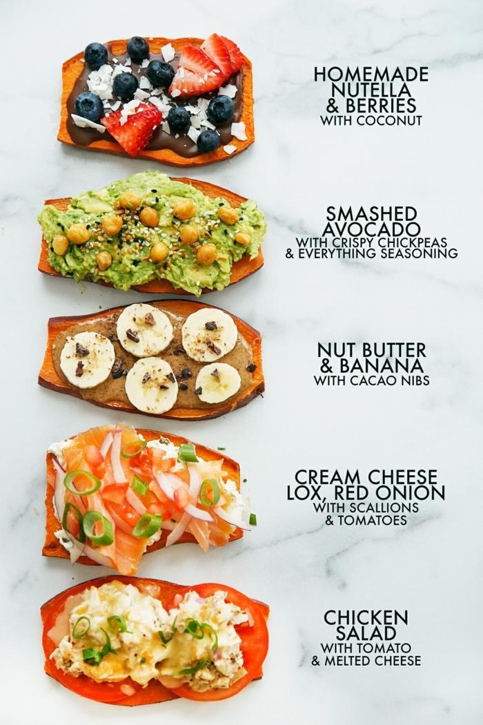 8 essen schwangerschaft healhty toasts mit süßkartoffeln vermsichedene rezepte