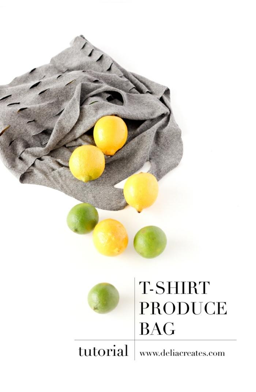 einfache tasche nähen anleitung graue handtasche zitronen limetten t shirt handtasche