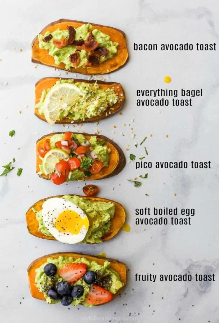 ernährungsplan schwangerschaft frühstücksideen für schwangere damen healthy toasts mit avocado