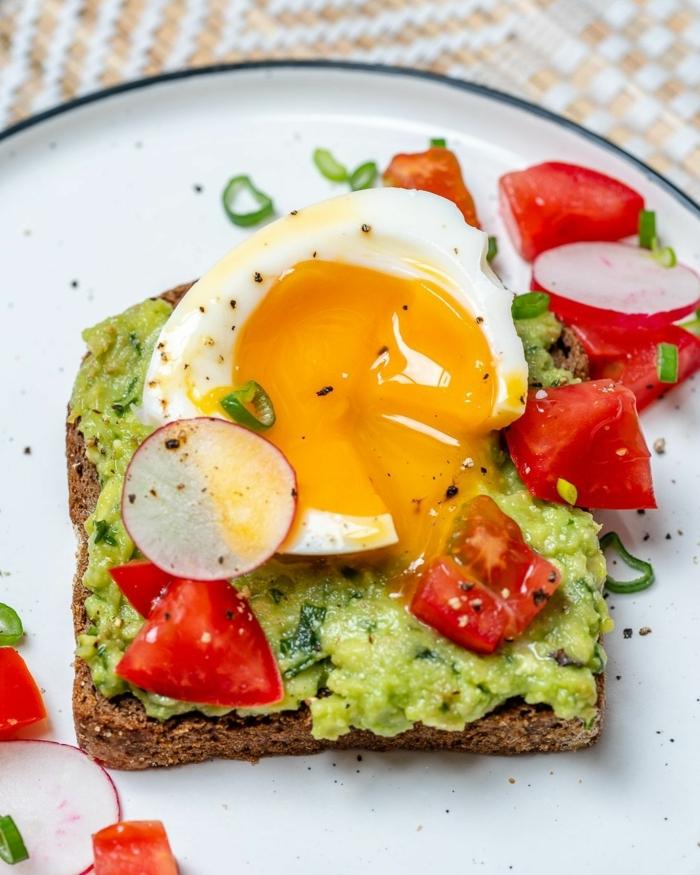ernährungsplan schwangerschaft gesunde rezepte für schwangere sanwisch mit avocado tomaten ei und radieschen
