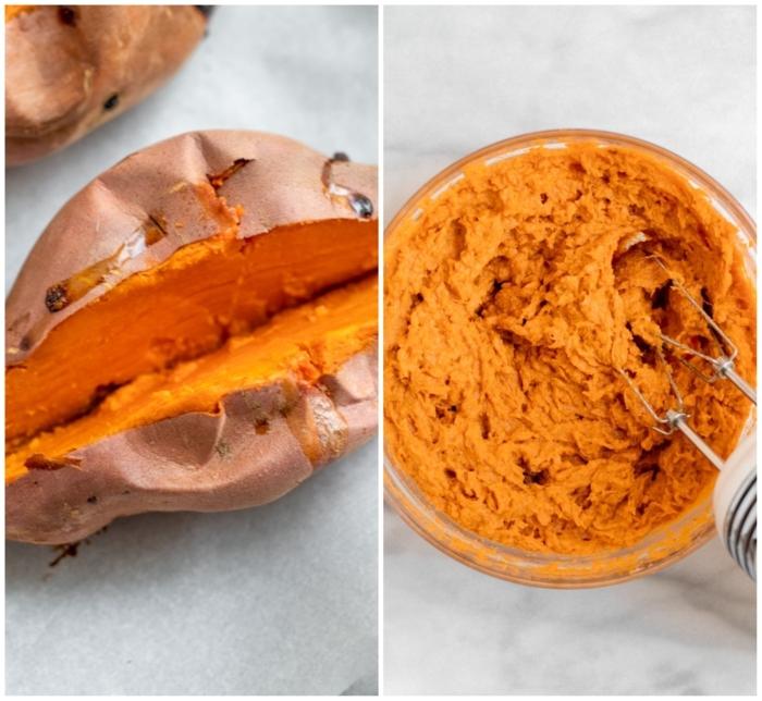 essen ohne milchprodukte zubereitung frühstücksschüssel mit süßkartoffeln diy paleo diät rezepte