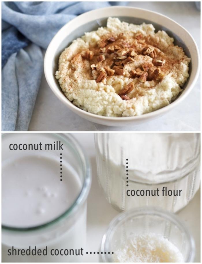 frühstück ohne milchprodukte paleo haferflocken mit kokosnuss leichte und gesunde rezepte collage