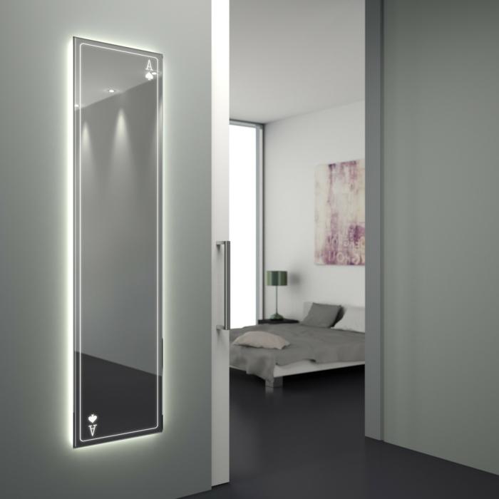 großer Ganzkörperspiegel, Badezimmerspiegel mit Beleuchtung, Badspiegel nach Maß, Einrichtung Schlafzimmer und Badezimmer
