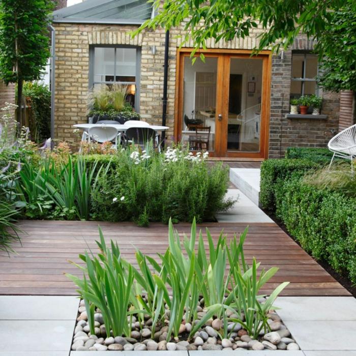 gartengestaltung ideen mit steinen und grünen pflanzen modern einrichtung vom garten