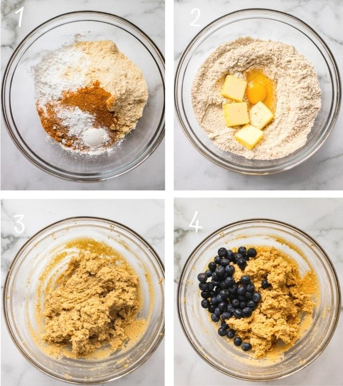 gesunde blaubeer scones paleo frühstück rezept mit anleitungen gesundes und leckeres backen dessert ideen