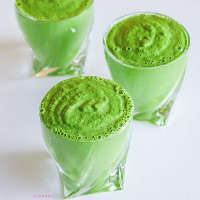 grüner smoothie rezept gesunde ernährung smoothie mit avocado spinat kokosnuss