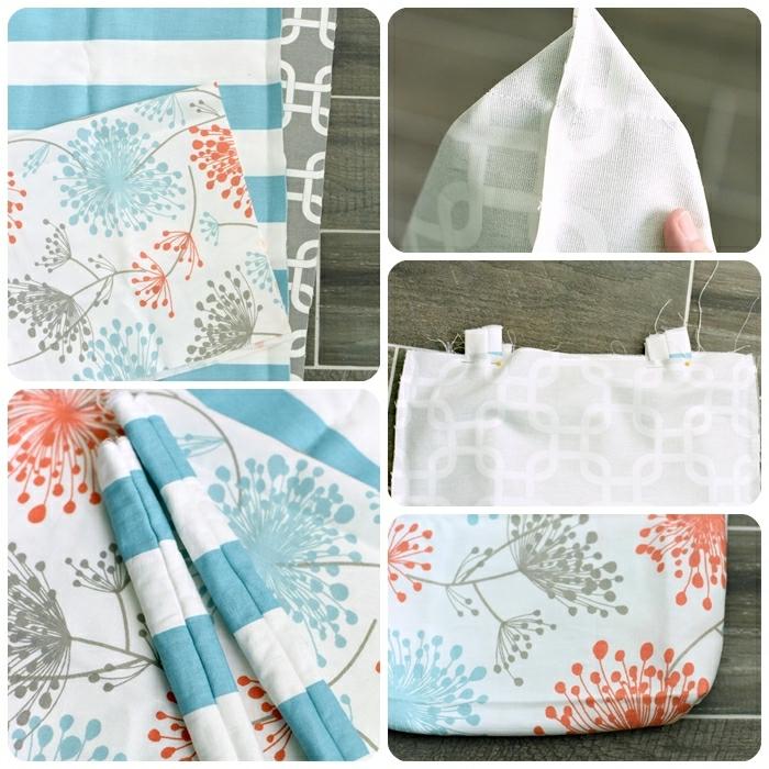 kleines täschchen nähen stoff mit floralen motiven handtasche anleitung diy