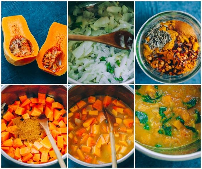 leckere rezepte mit kürbis paleo ernährungsplan collage mit anleitungen schritt für schritt