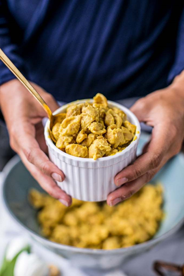 paleo ernährung rezepte vegane gerichte mac and cheese glutenfrei gesund und lecker schüssel mit essen