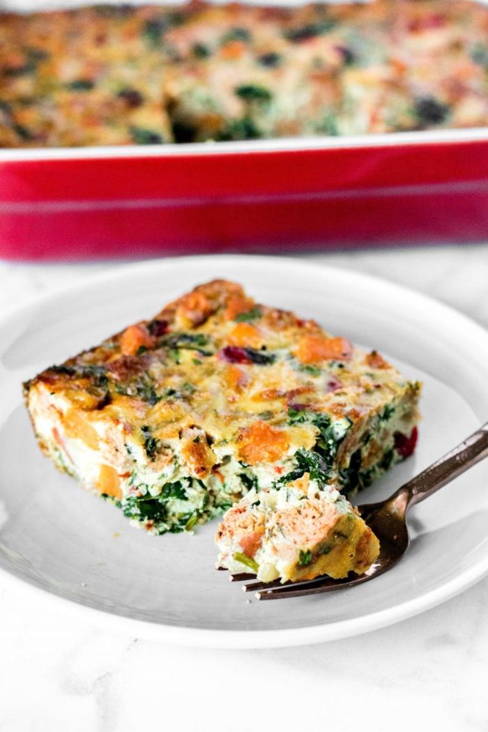 perfekte quiche ideen leckere gerichte paleo diät rezepte palei frühstücksauflauf mit süßkartoffeln