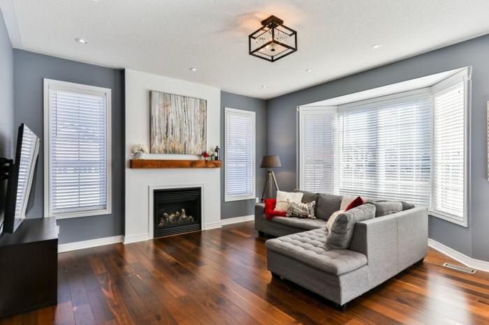 plissees im wohnzimmer, wohnzimmergestaltung ideen, wohnzimmer einrichten