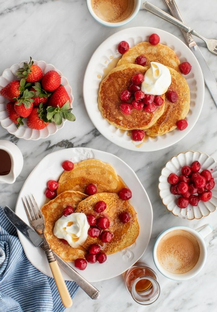 schwangerschaft ernährung pfannkuchen mit himbeeren frühstücksideen lecker gesund