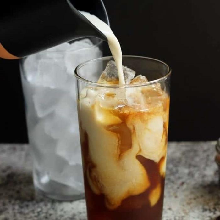 skinny iced karamell machiato frühstück ohne milchprodukte kaffee rezepte