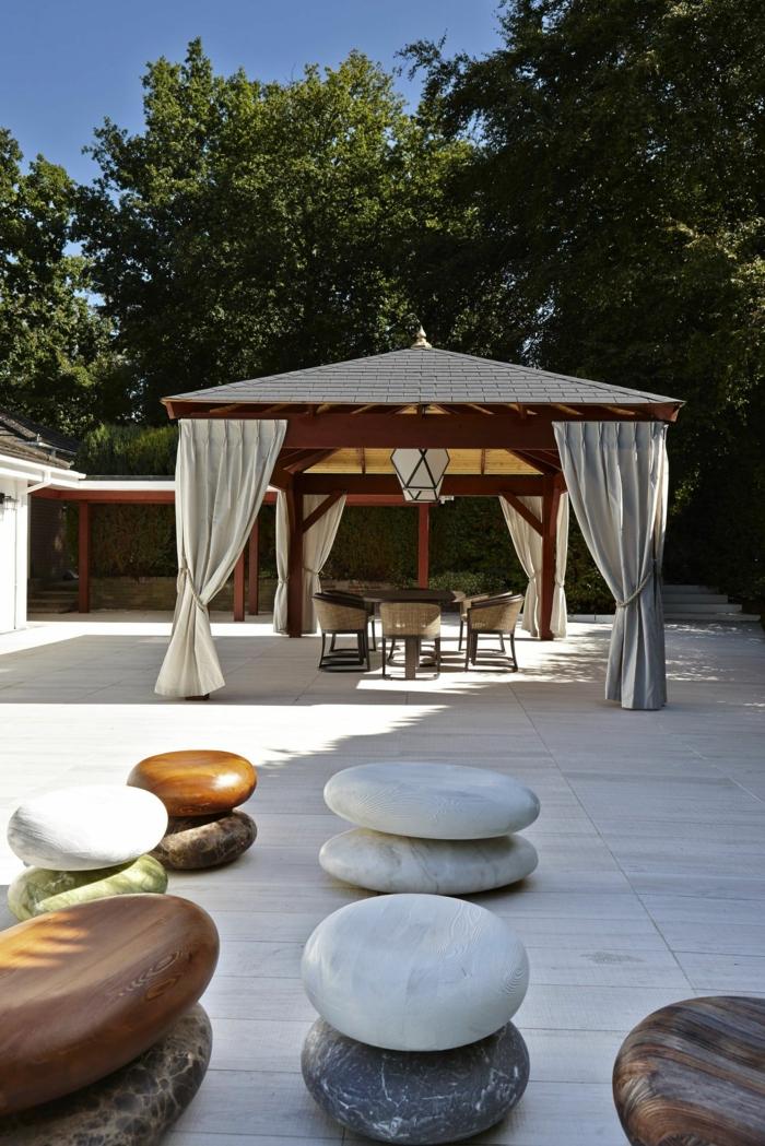 steingarten ideen sichtschutz für den garten gartengestaltung mit steinen kreative einrichtung garten