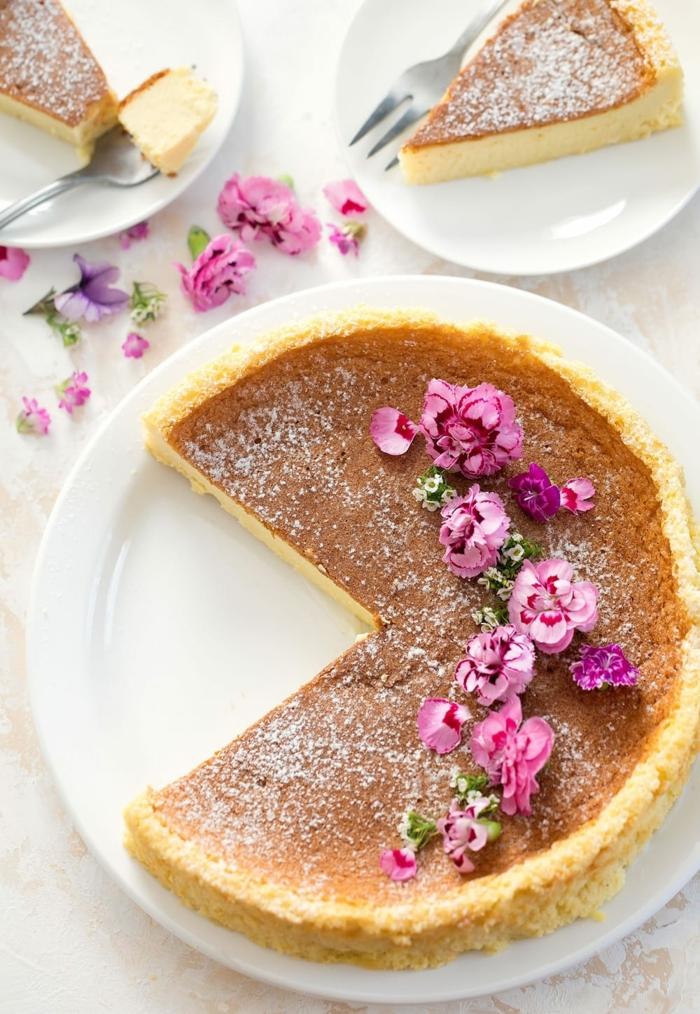 0 käsekuchen ohne boden cheesecake mit vanille einfacher nachtisch für gäste dessert ideen