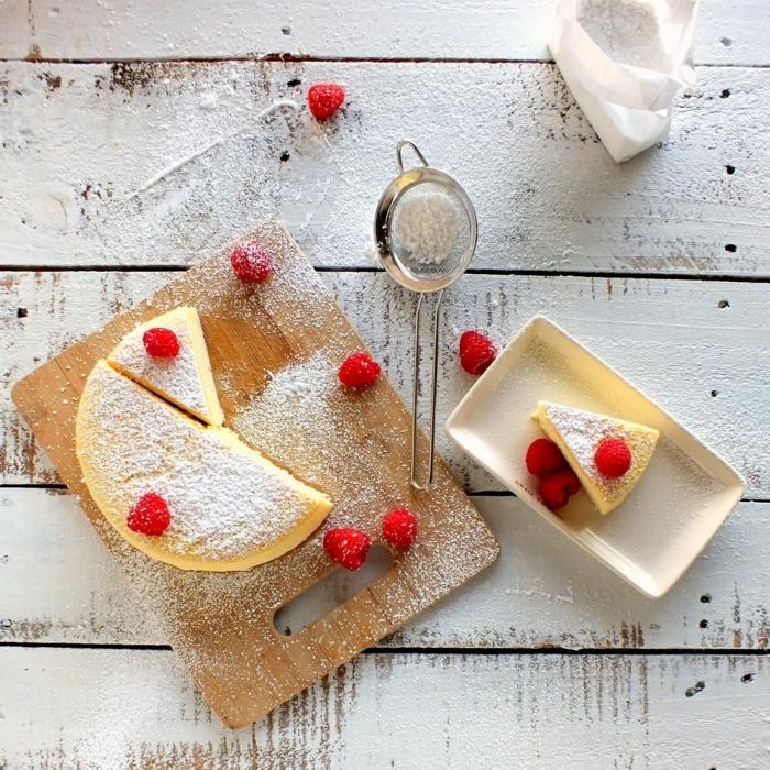 0 käsekuchen ohne boden cheesecake rezepte einfach und lecker nachtisch mit himbeeren