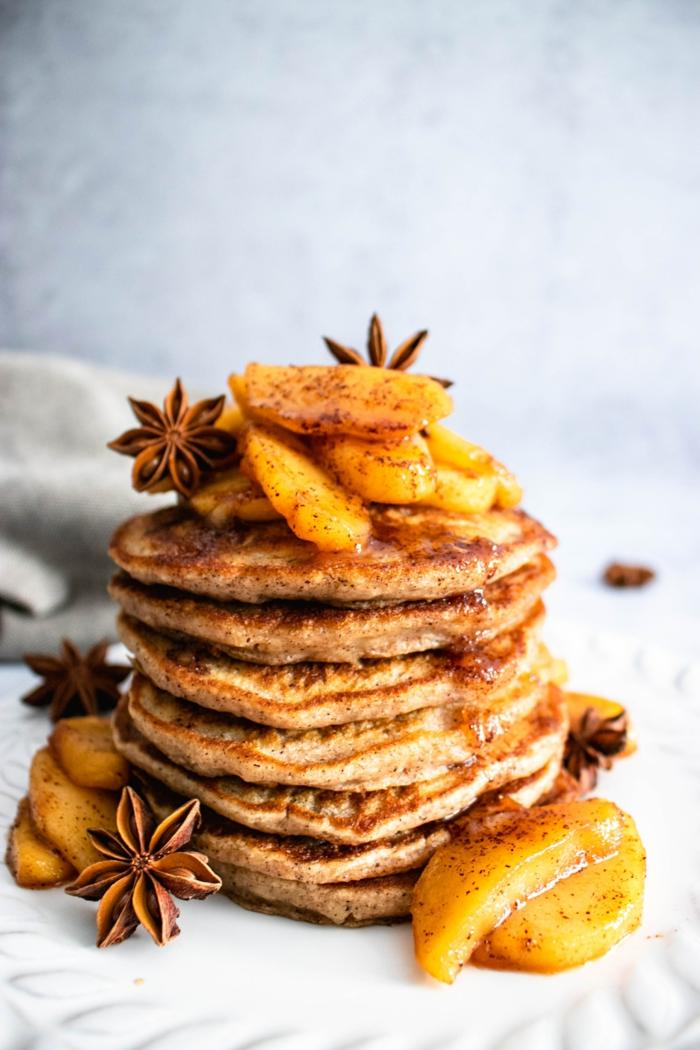 0 pfannkuchen rezept einfach und schnell frühstück mit eiern mehl zimt und früchten zimtpfannkuchen