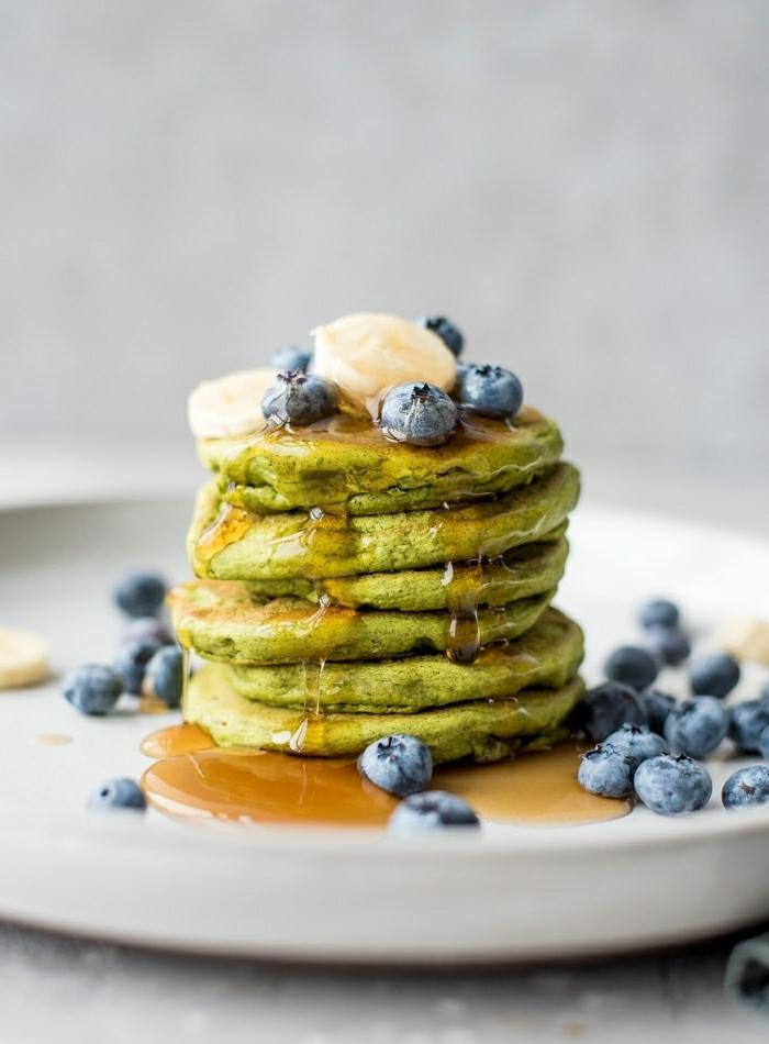 0 pfannkuchen rezept einfach und schnell veganes glutenfreies frühstück mit eiweiß proteinpfannkuchen mit blaubeeren