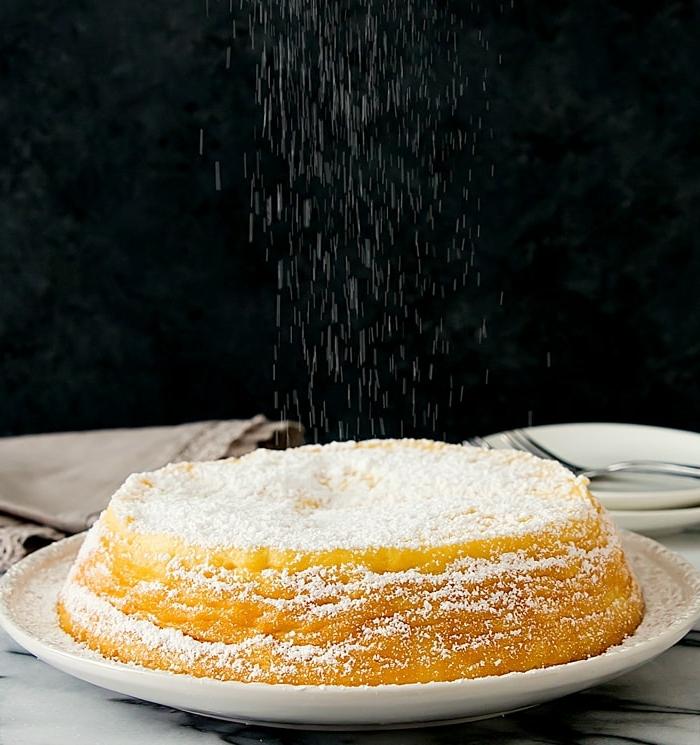 1 käsekuchen ohne boden ohne puddingpulver low carb cheesecake mit vanille vanillekuchen mit puderzucker garnieren