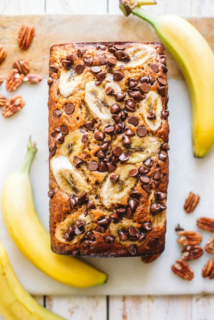 2 bananenbrot mit walnüssen bananenkuchen mit nüssen nachtisch ideen leckere rezepte für jeden tag