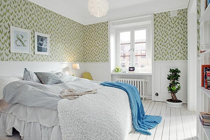 2 fototapeten für schlafzimmer tapeten ideen schlafzimmereinrichtung in weiß wohnung dekorieren kleiner raum einrichten