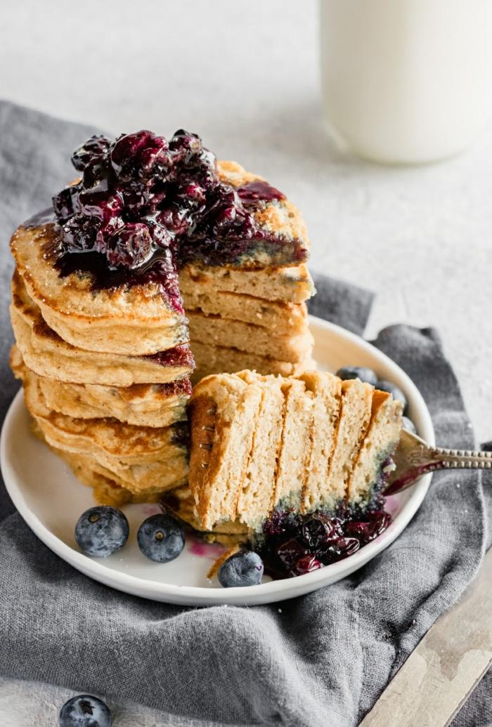 3 rezept für pfannkuchen mit blaubeeren einfache zubereitung was ist brunch brunchideen