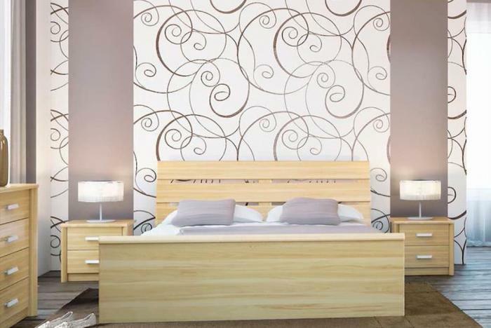 4 fototapeten für schlafzimmer zimmer dekorieren wohnungsdeko ideen wanddeko tapete mit abstraktem muster