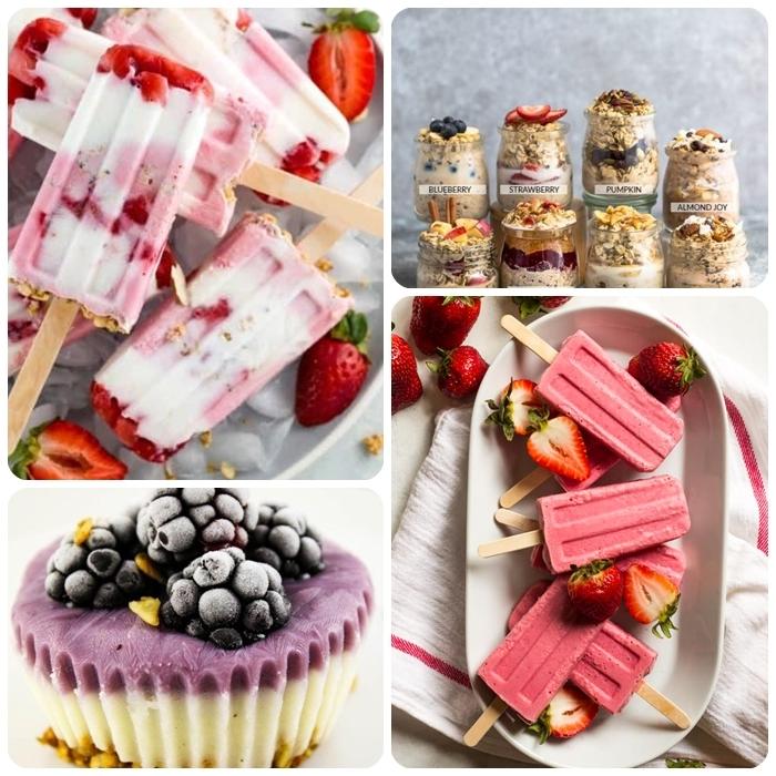4 schnelle partyrezepte zum vorbereiten eiscreme mit erdbeeren leckere fzoren cupcakes mit brombeeren und joghurt