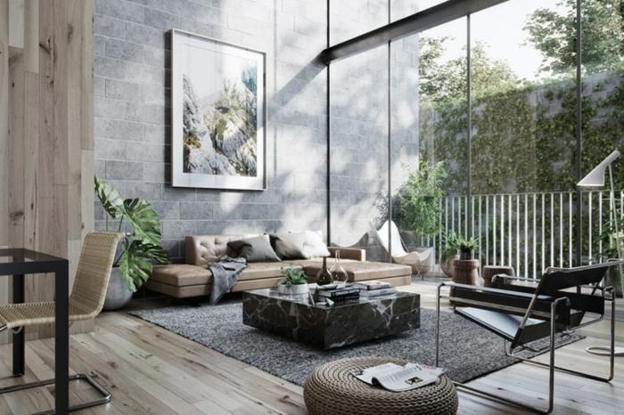 4 wohnzimmer ideen wandgestaltung zimmer sreichen zimmergestaltung in grau große fenster moderne wohnzimmergestaltung