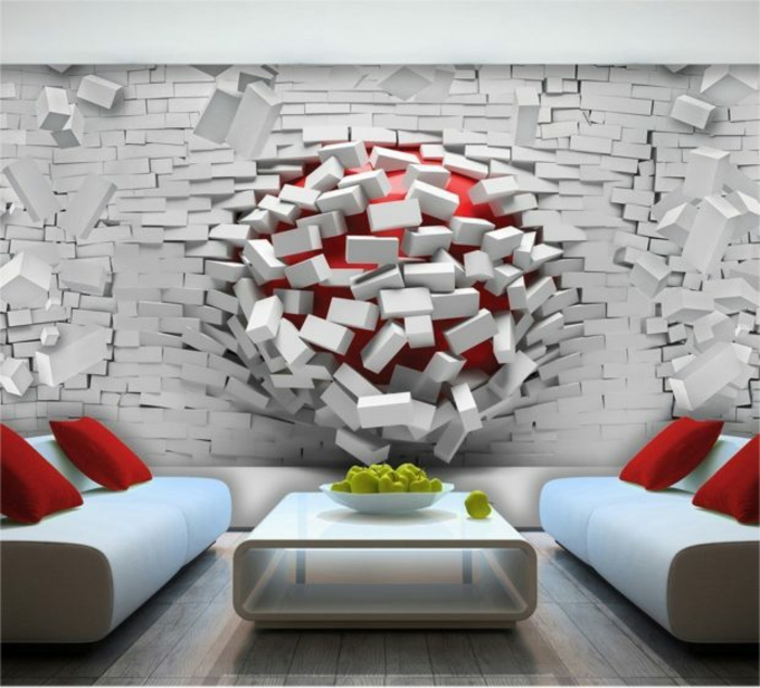 5 fototapeten für schlafzimmer 3d tapete weißeziegel wohnung dekorieren moderne wanddeko