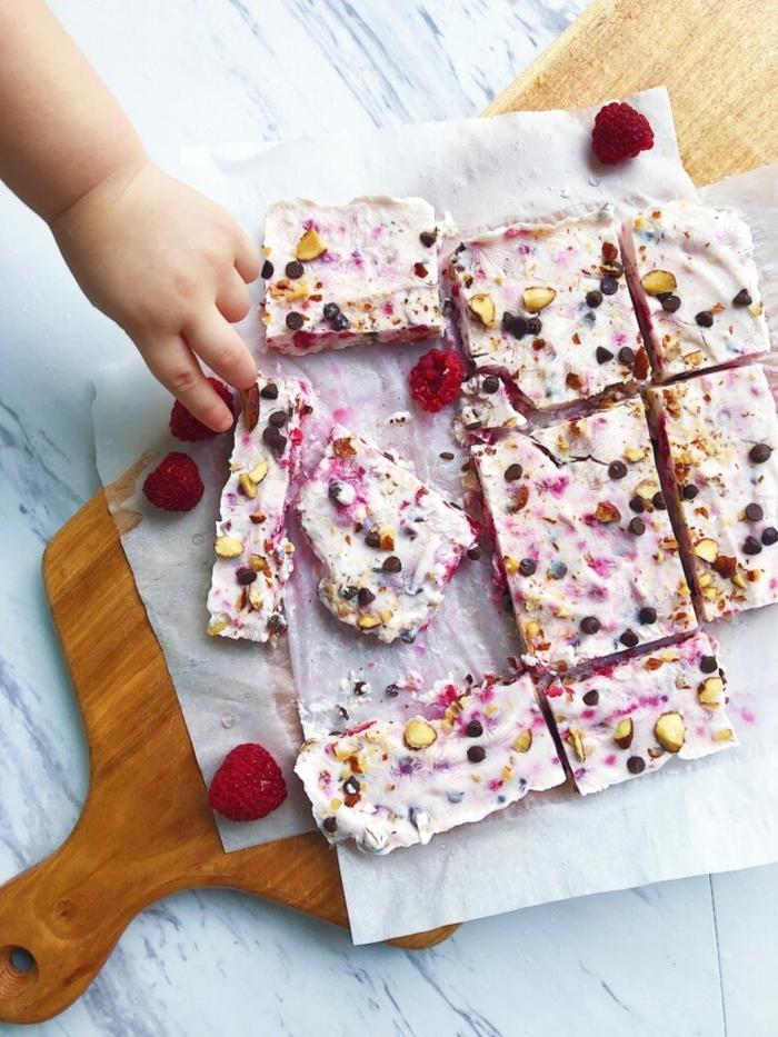 5 kochen für gäste gesunde joghurt bars mit blaubeeren himbeeren und nüssen partyrezepte ideen für den sommer sommerrezepte